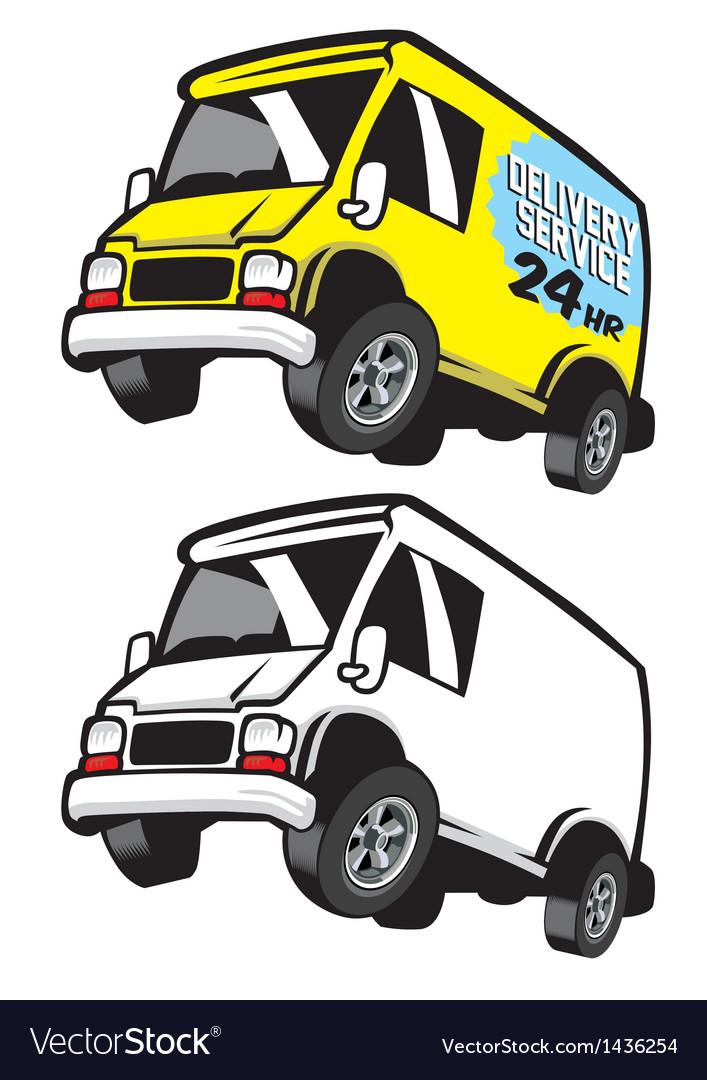 Commercial cartoon van