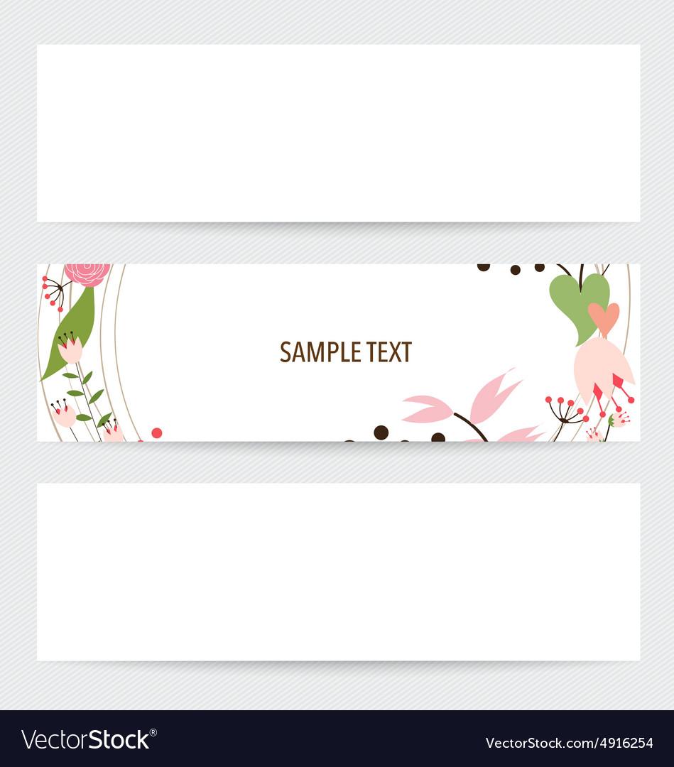 Flower background brochure template Set of floral
