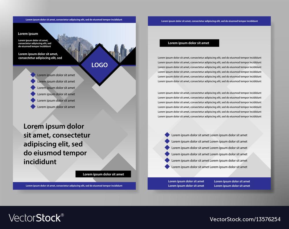 Flyer cover business brochure design