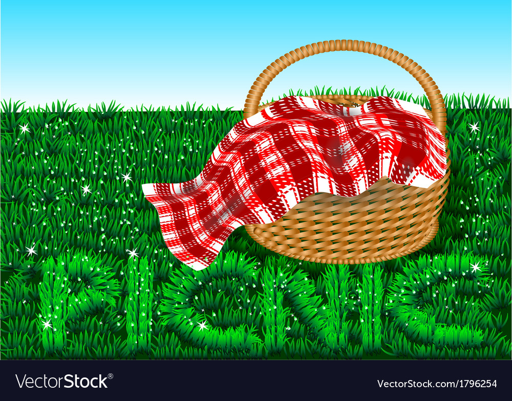Picnic vector image