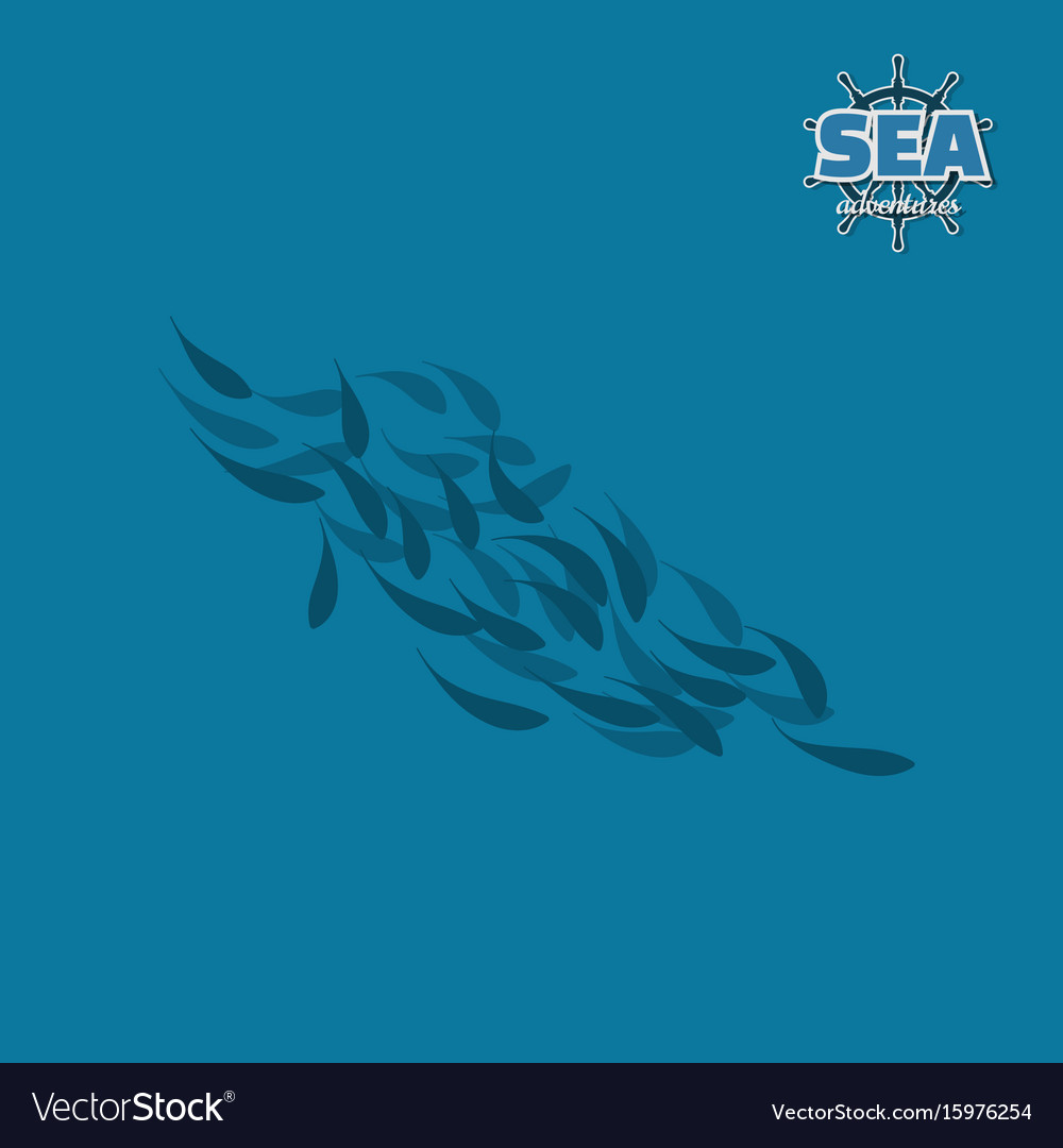School of fish pirate game vector image