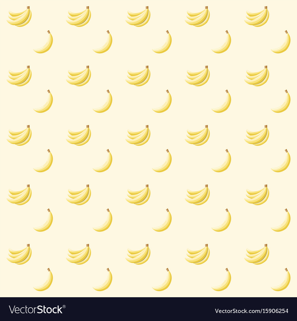 Seamless abstract pattern with bananas vector image