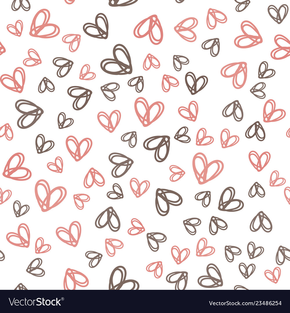 Seamless pattern with colorful hearts for