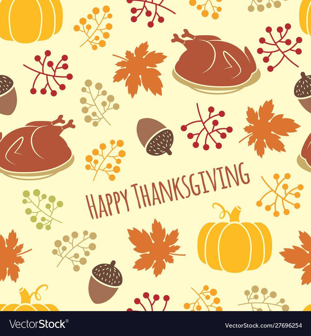 Turkey and pumpkin thanksgiving pattern