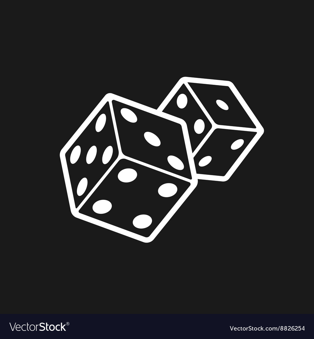 Two dices isolated on black background