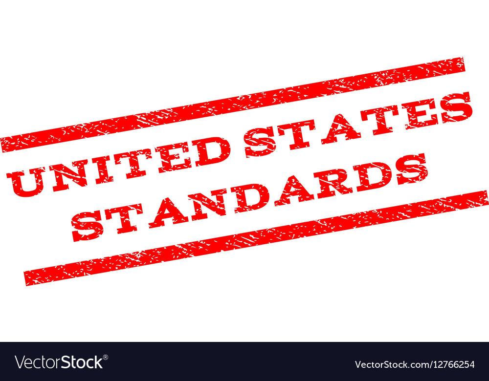 United States Standards Watermark Stamp vector image
