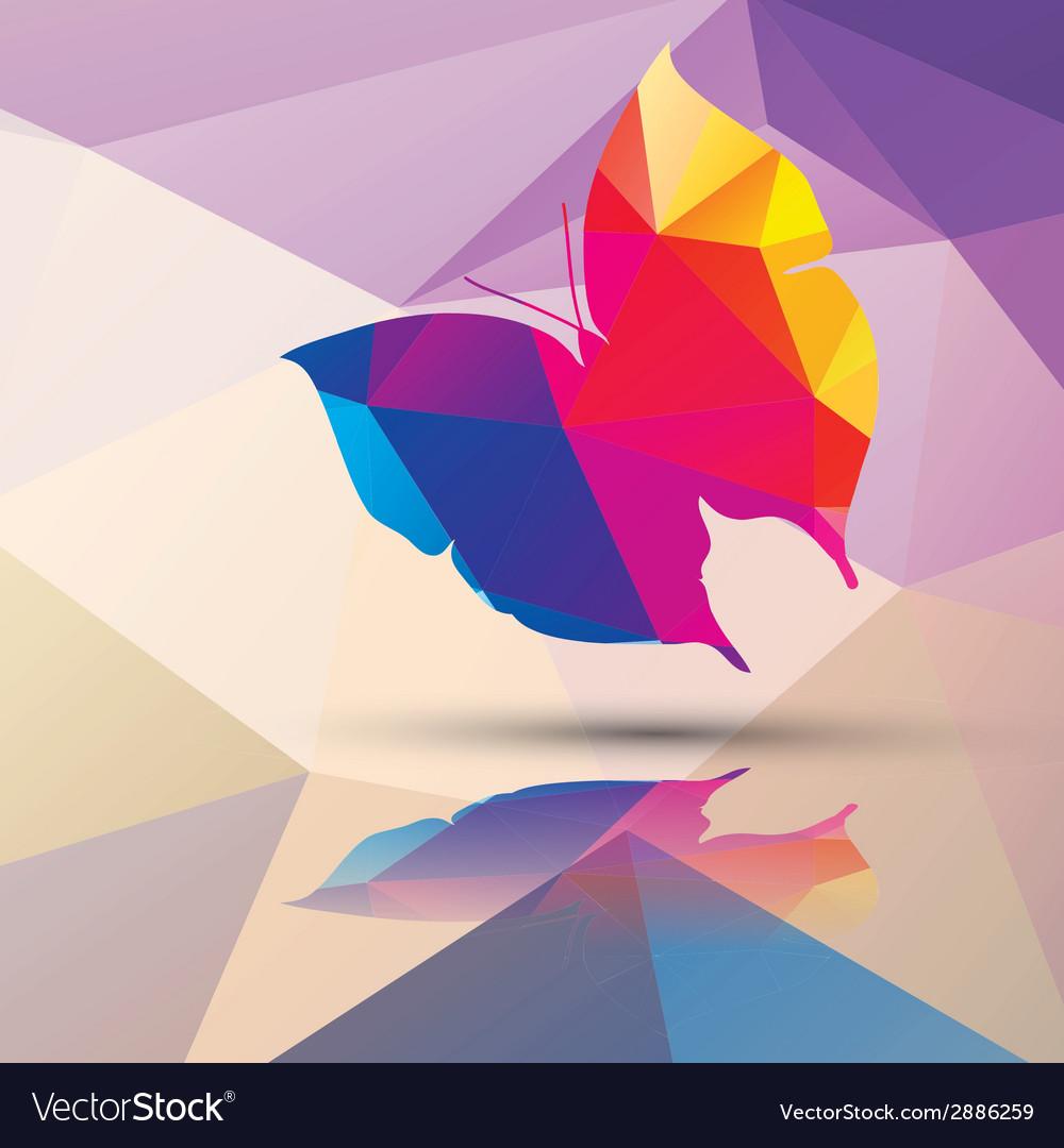 Geometric polygonal butterfly pattern design