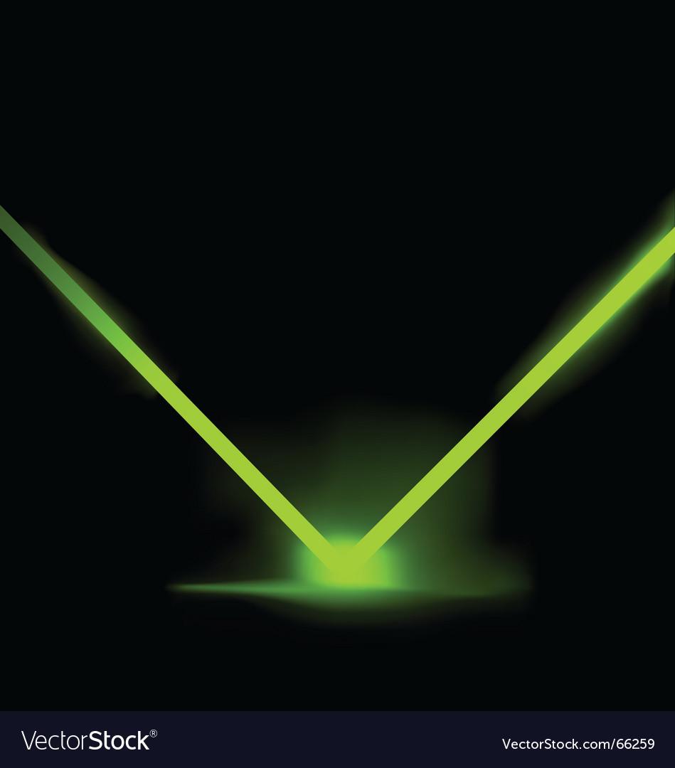 Laser light illustration vector image