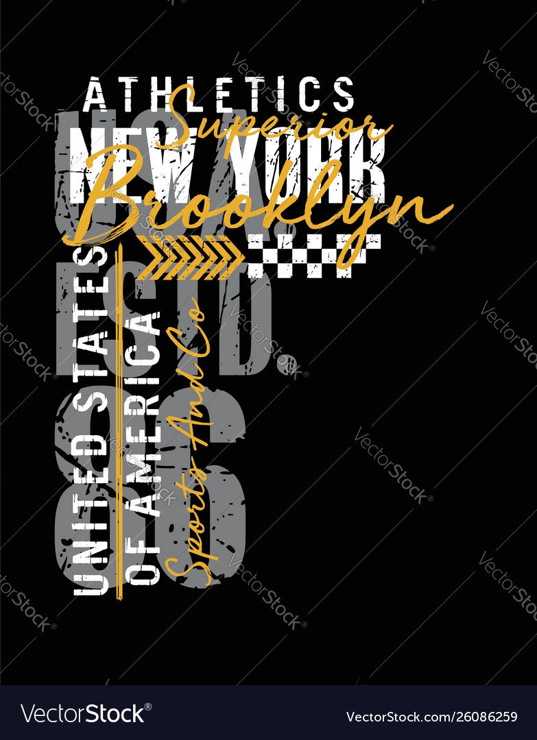 New york typography design united states style