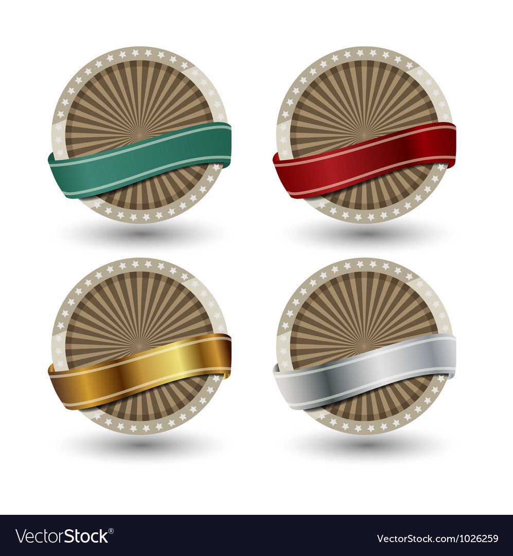 Quality Labels in retro vintage design vector image