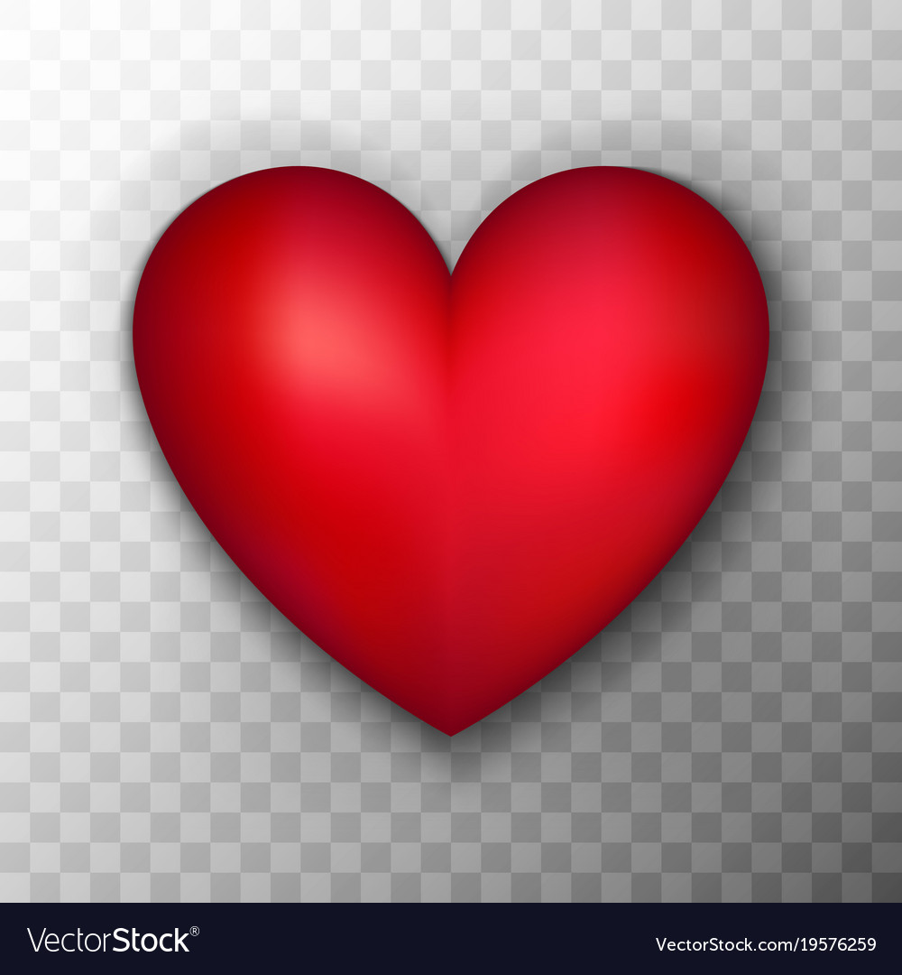 red heart transparent background royalty free vector image rh vectorstock com heart transparent background heart transplant google