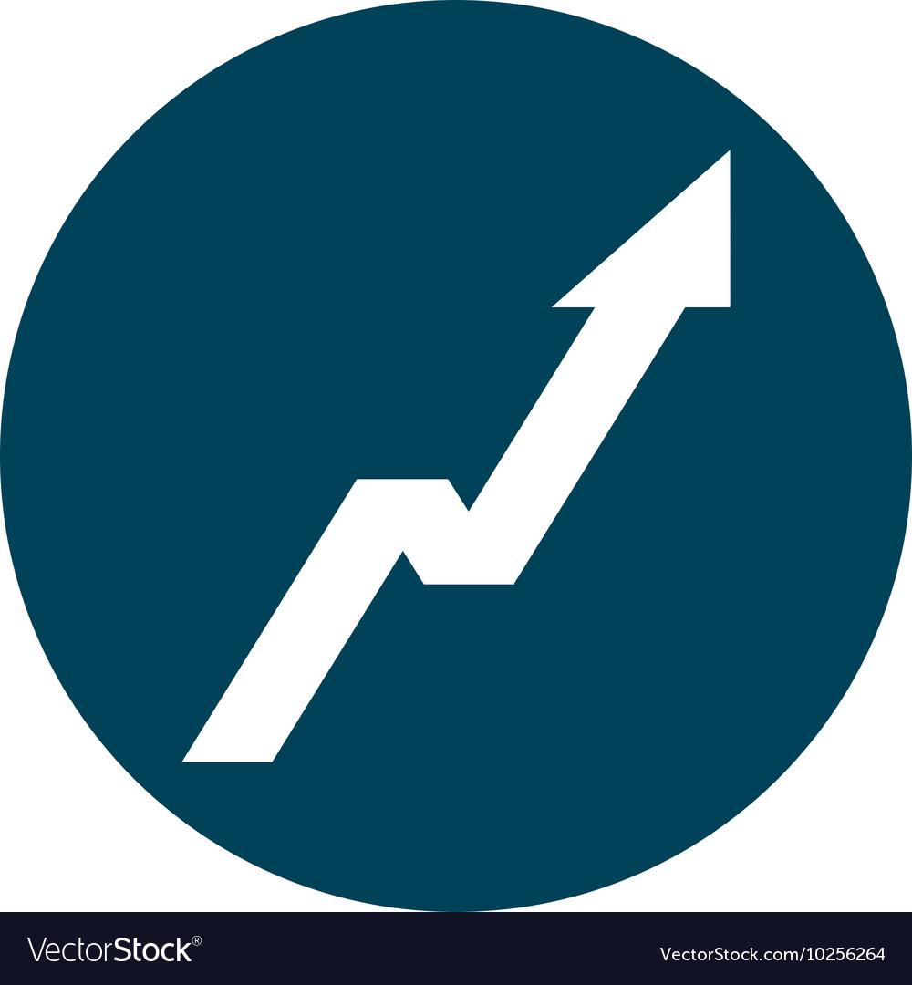 Arrow up statistics icon