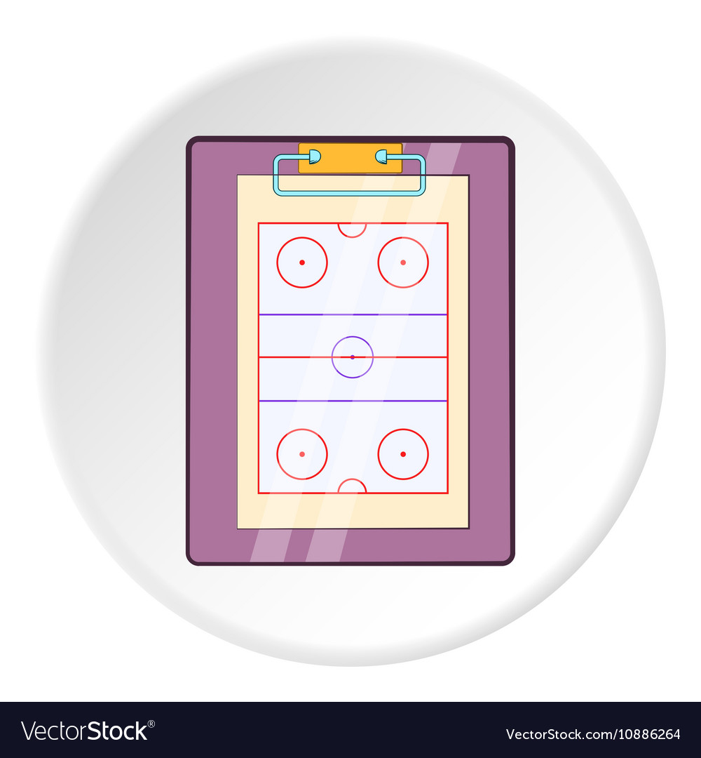 Hockey game plan icon cartoon style vector image