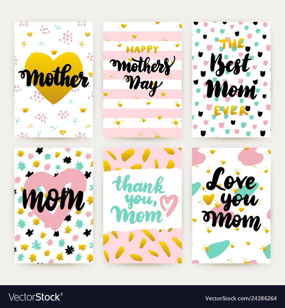 Mothers day hipster trendy posters