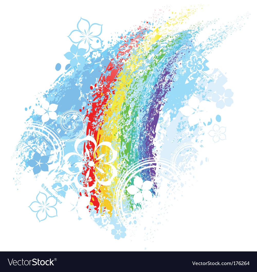 Rainbow painted
