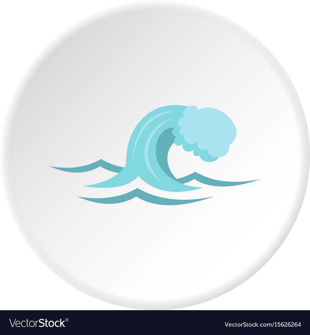 Small wave icon circle
