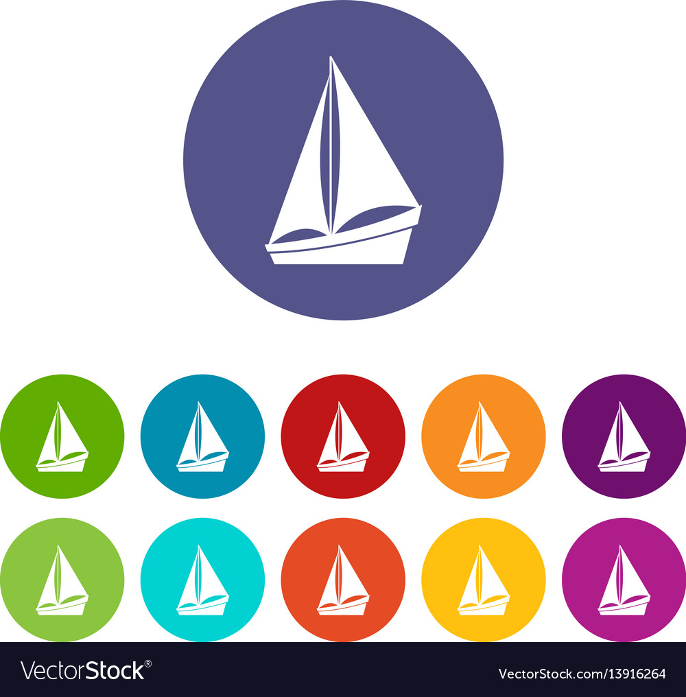 Small yacht set icons
