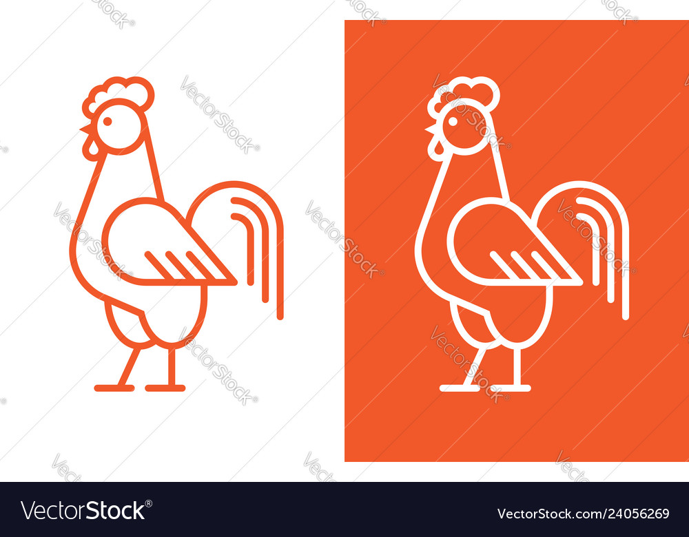 Cock linear logo