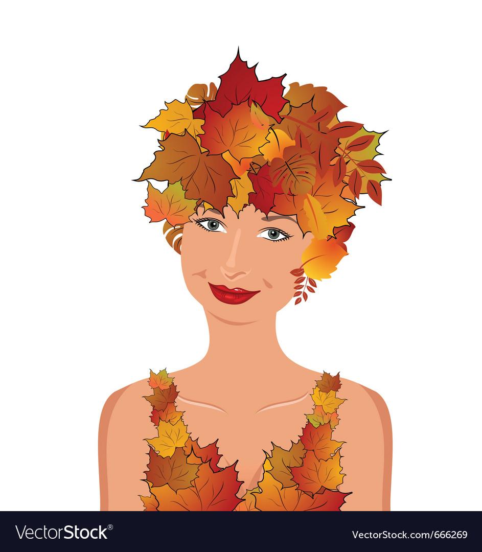 Elegant autumn girl