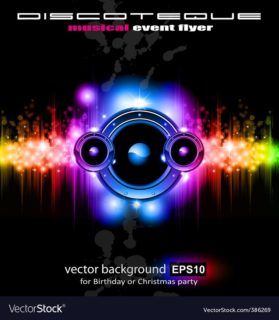 Futuristic music vector image