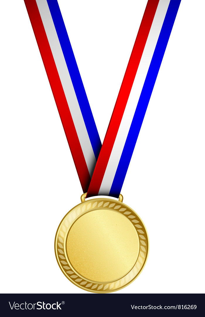 gold medal royalty free vector image vectorstock