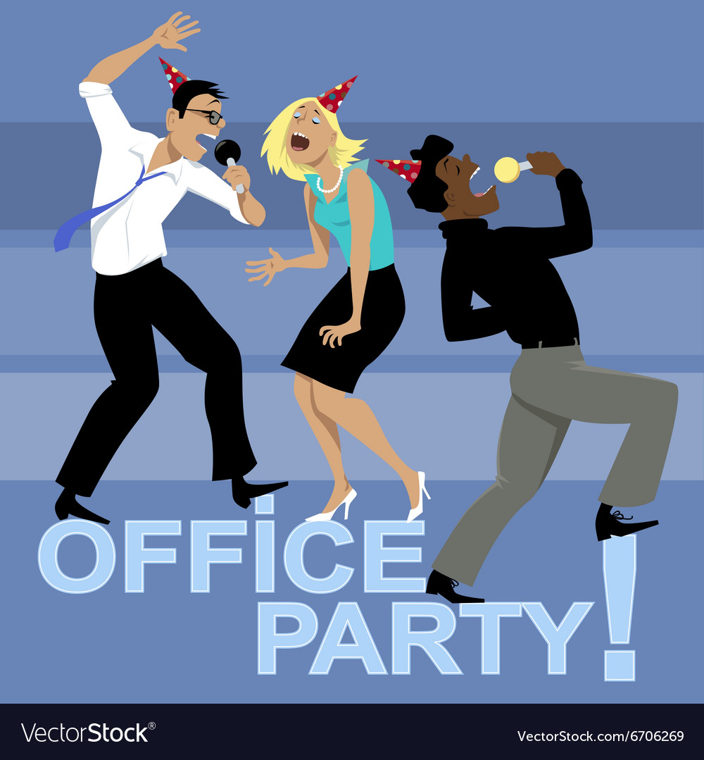 Office Party Invitation Royalty Free Vector Image