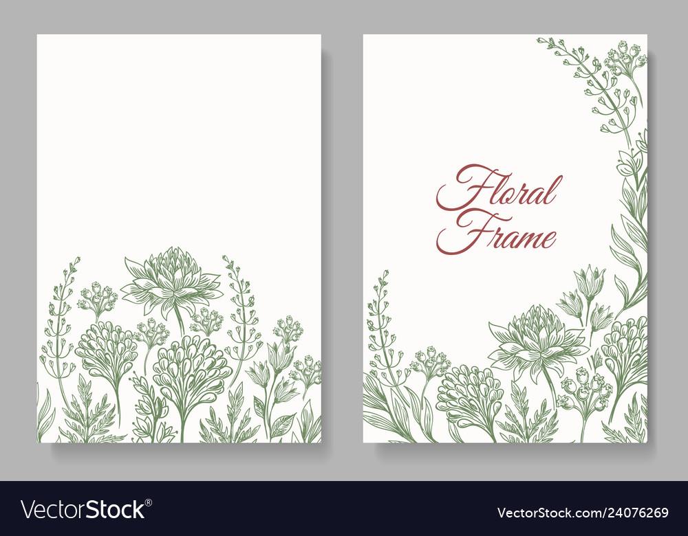 Vintage botanical card frame