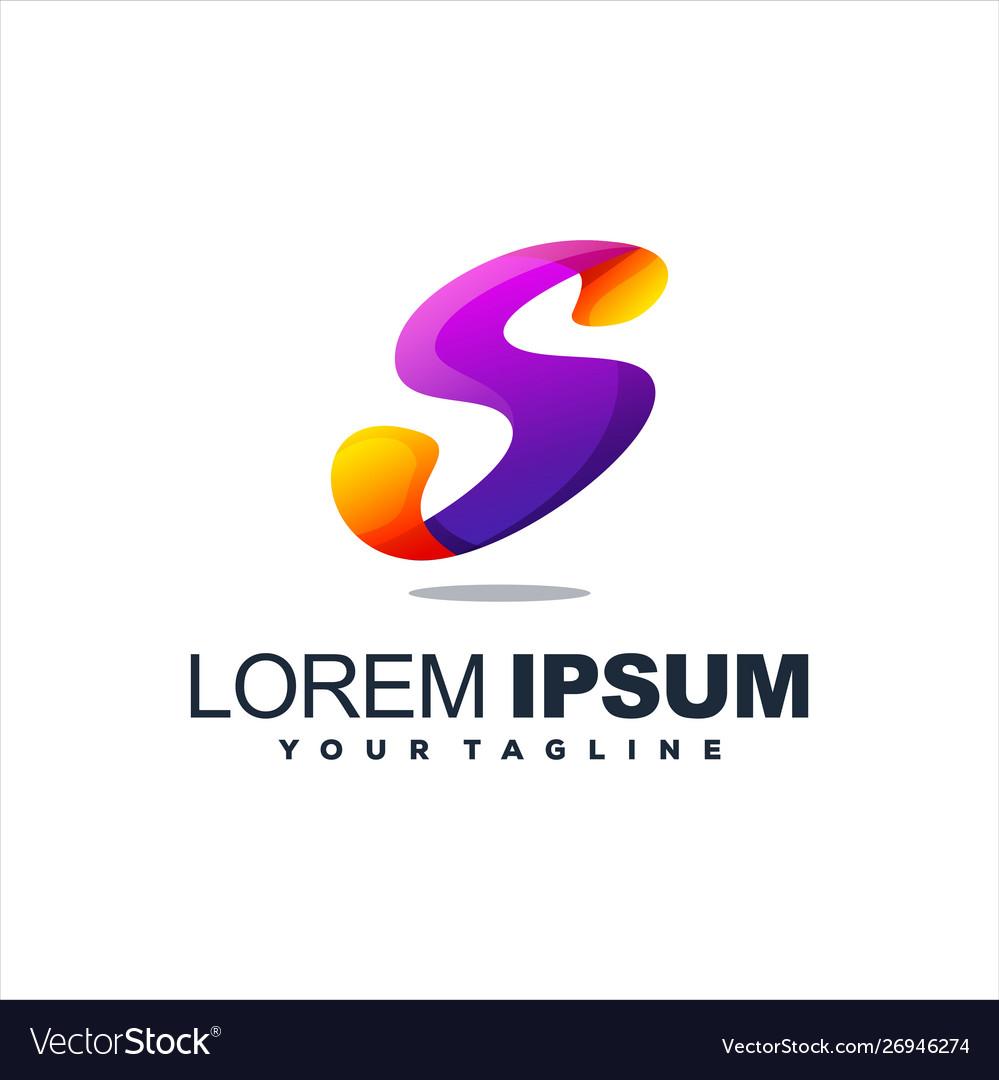 Awesome letter s logo design