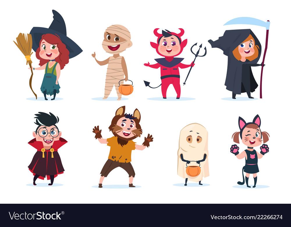 Halloween kids cartoon children