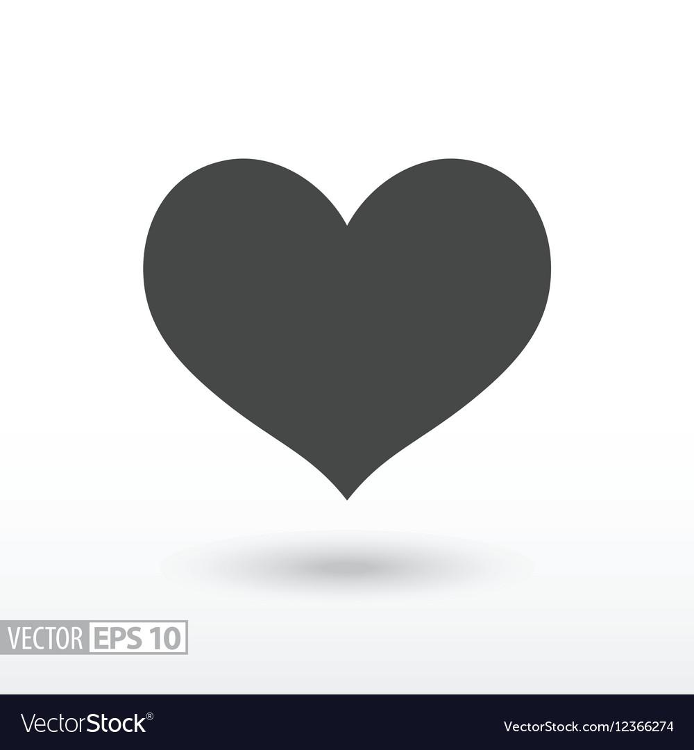Heart flat Icon Sign heart logo for web design