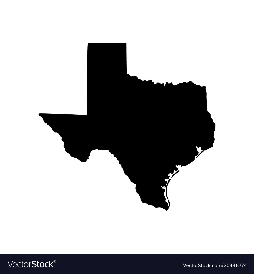 map of the us state of texas royalty free vector image