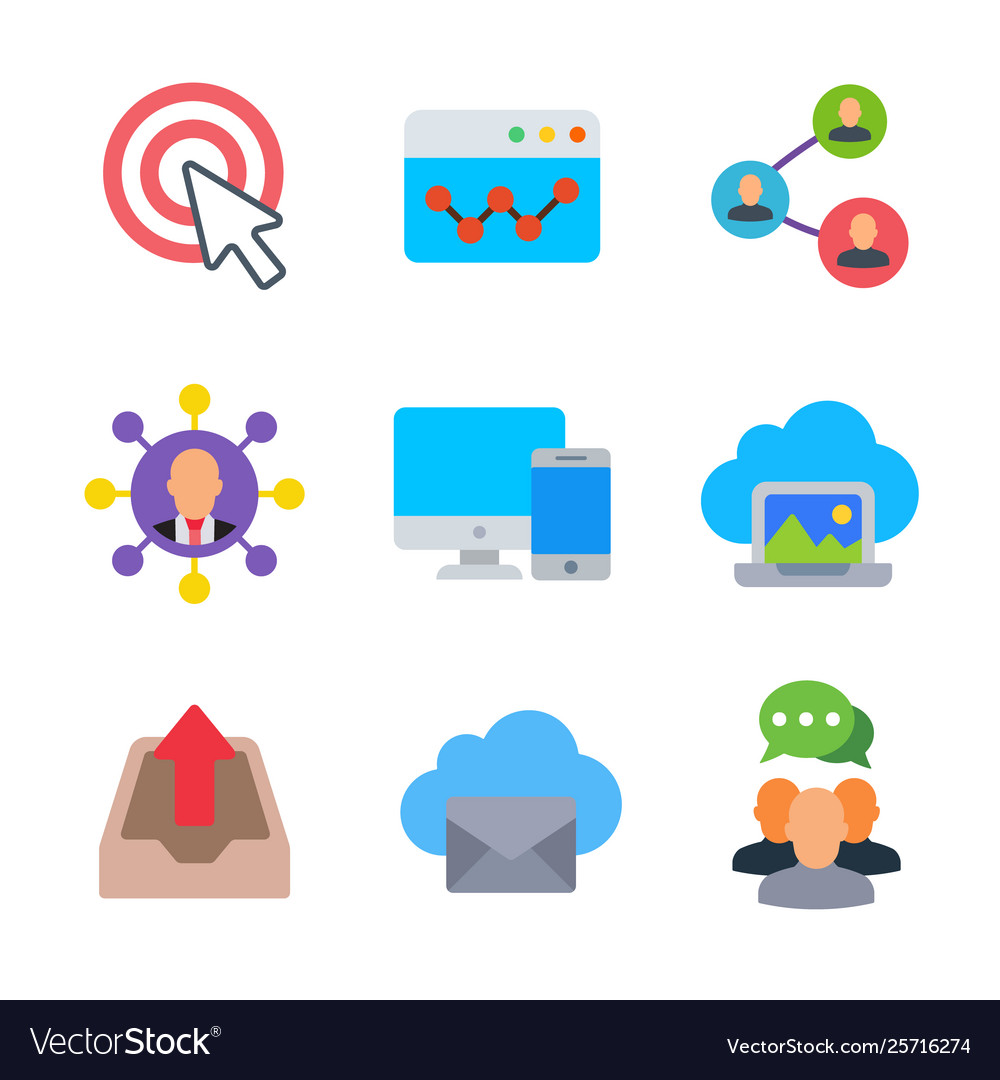 Marketing and seo colored trendy icon pack 2