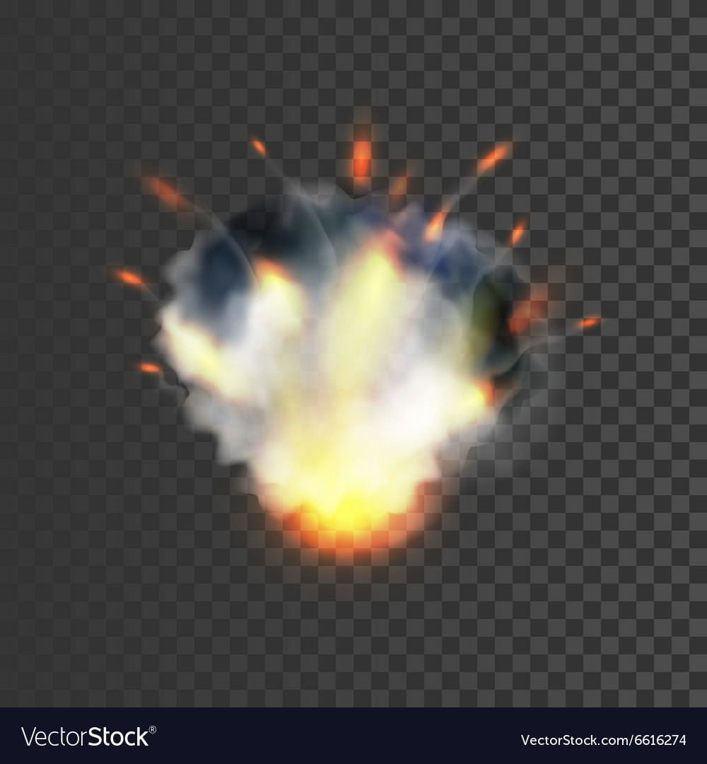 Realistic explosion symbol vector image