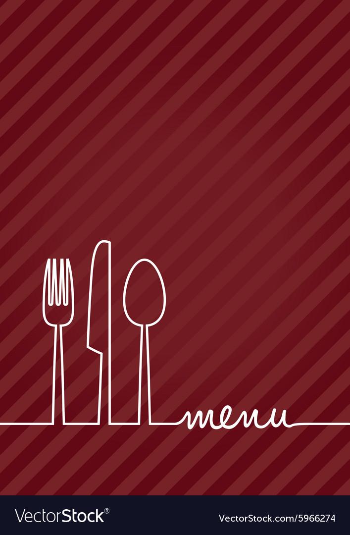 Red a4 menu vector image