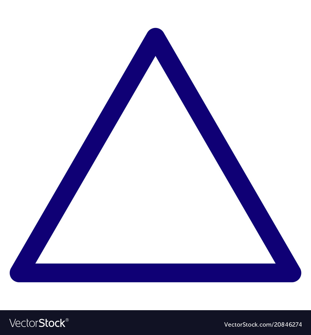 Rounded triangle frame template Royalty Free Vector Image