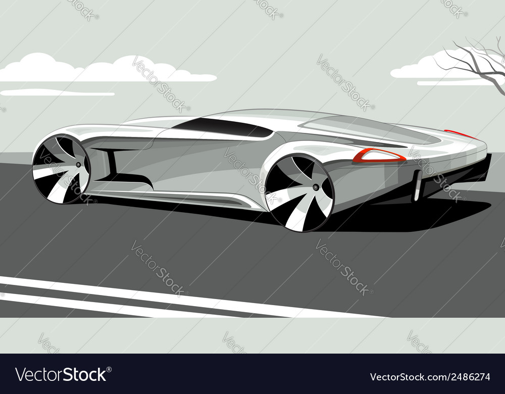 Sports car isolated on neutral background vector image