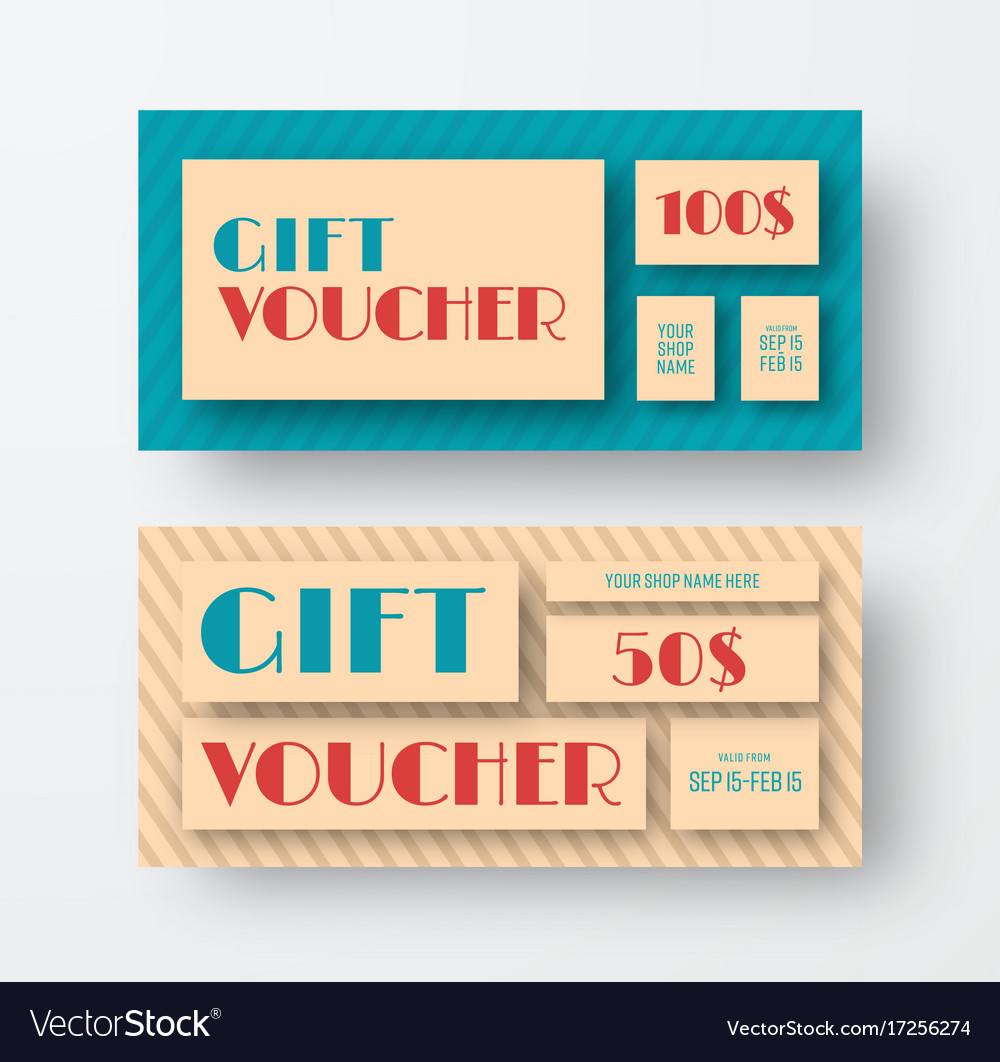 Vintage gift voucher design
