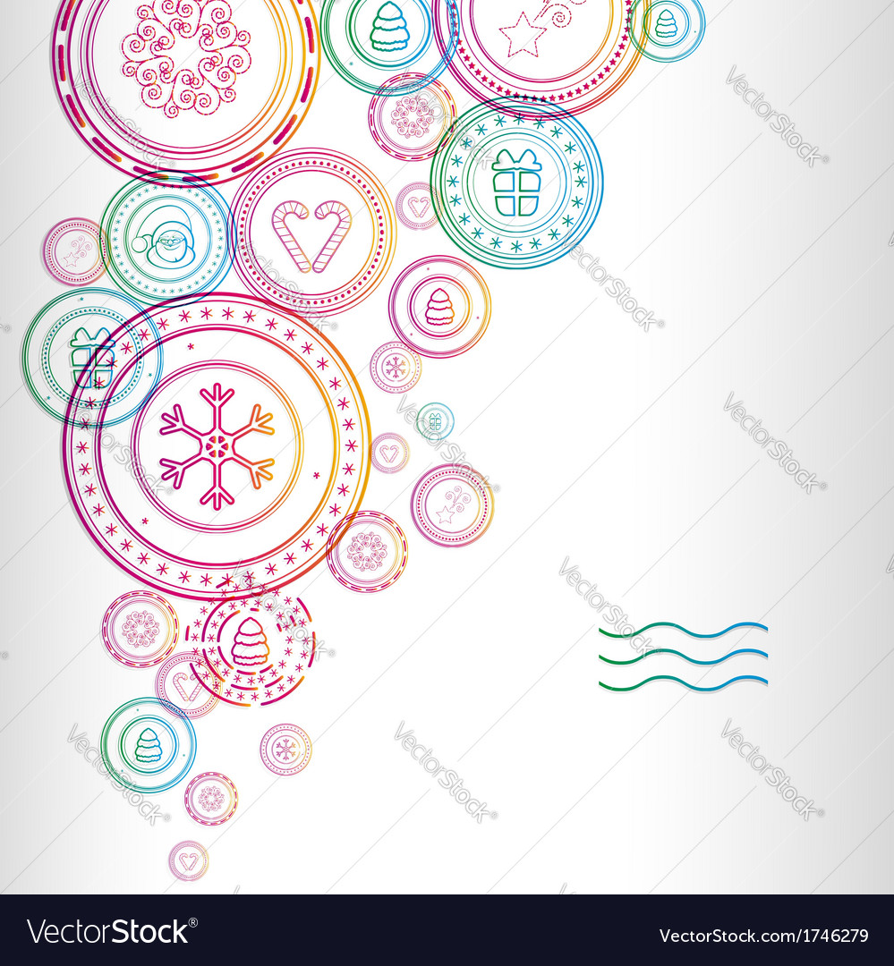 christmas stamps background image royalty free vector image