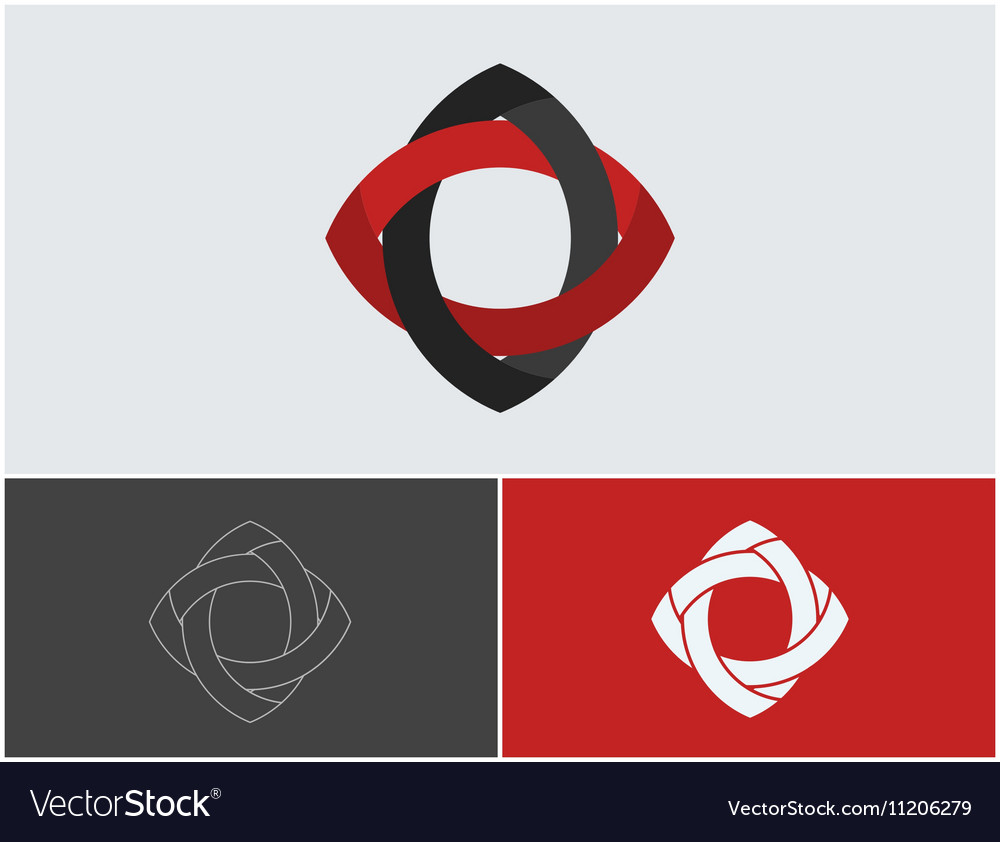 Creative logo design Minimalistic design element vector image