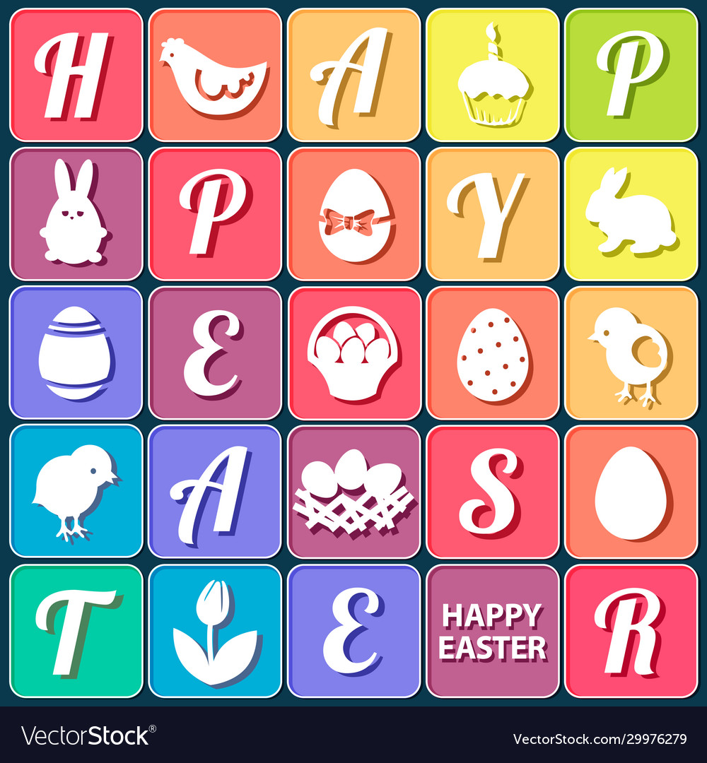 Easter elements set collection