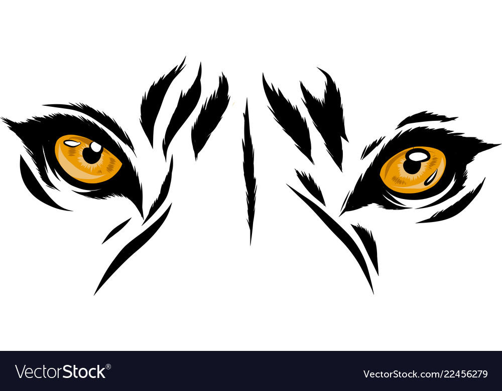Tiger eyes mascot graphic in