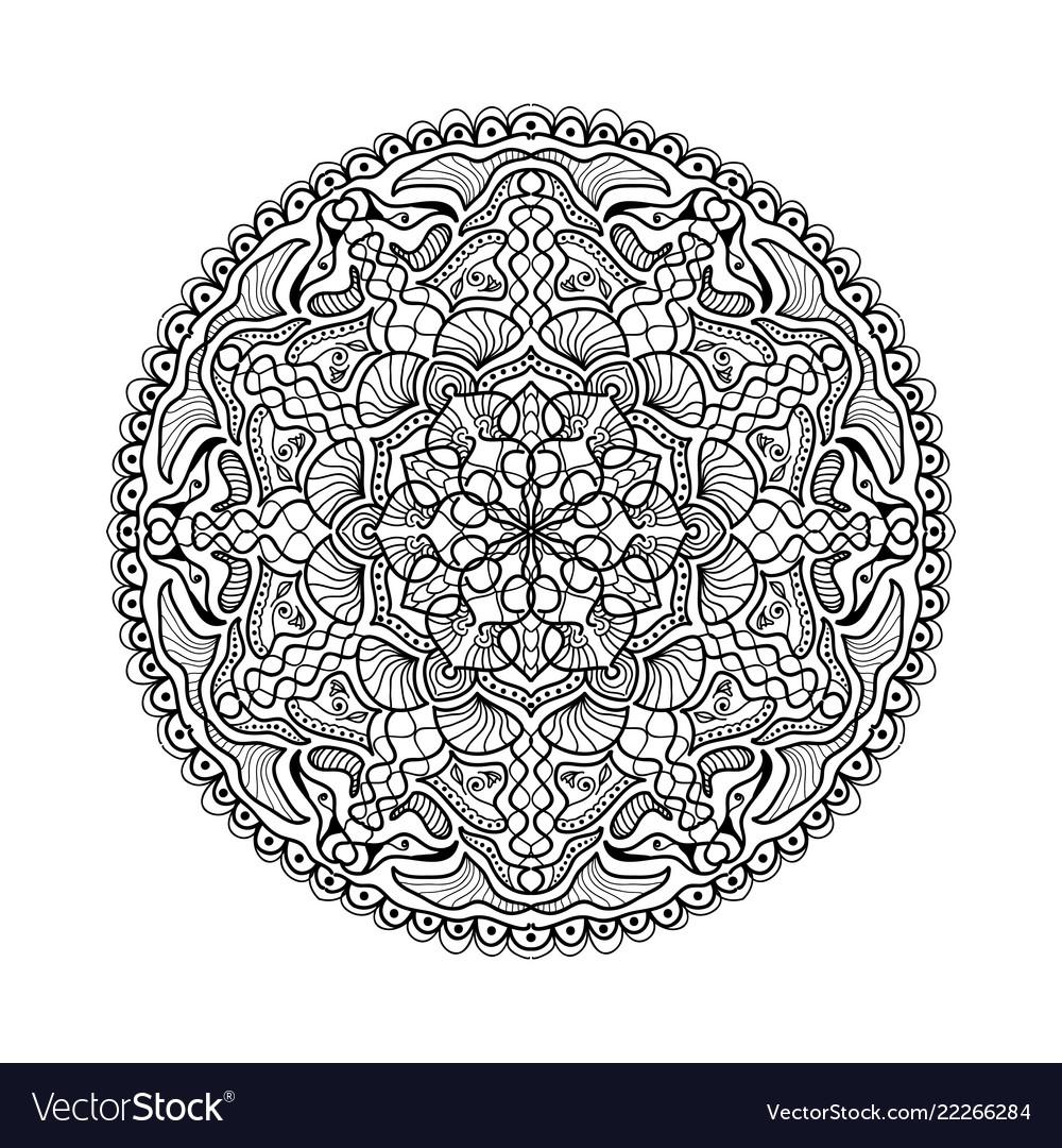 Black mandala beautiful design element