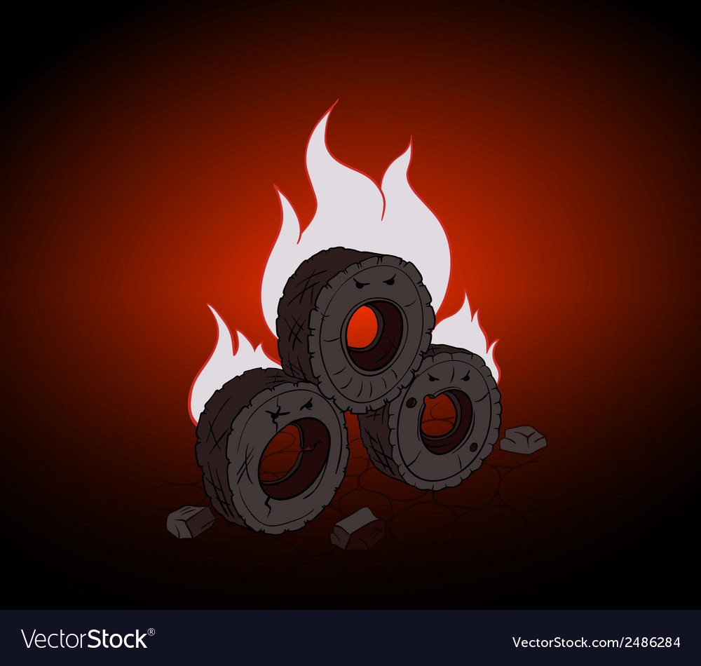 Blazing Tires vector image