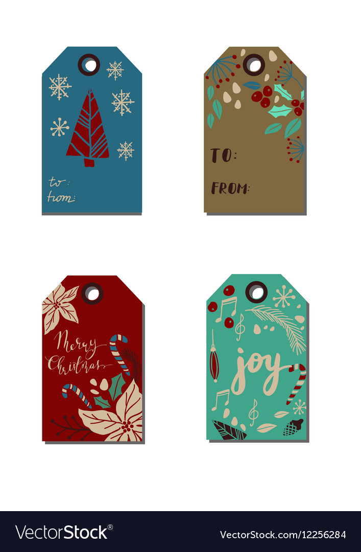 christmas gift tags royalty free vector image vectorstock