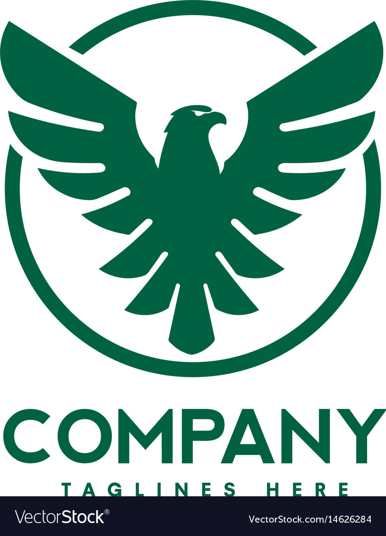 Eagle bird with circle logo