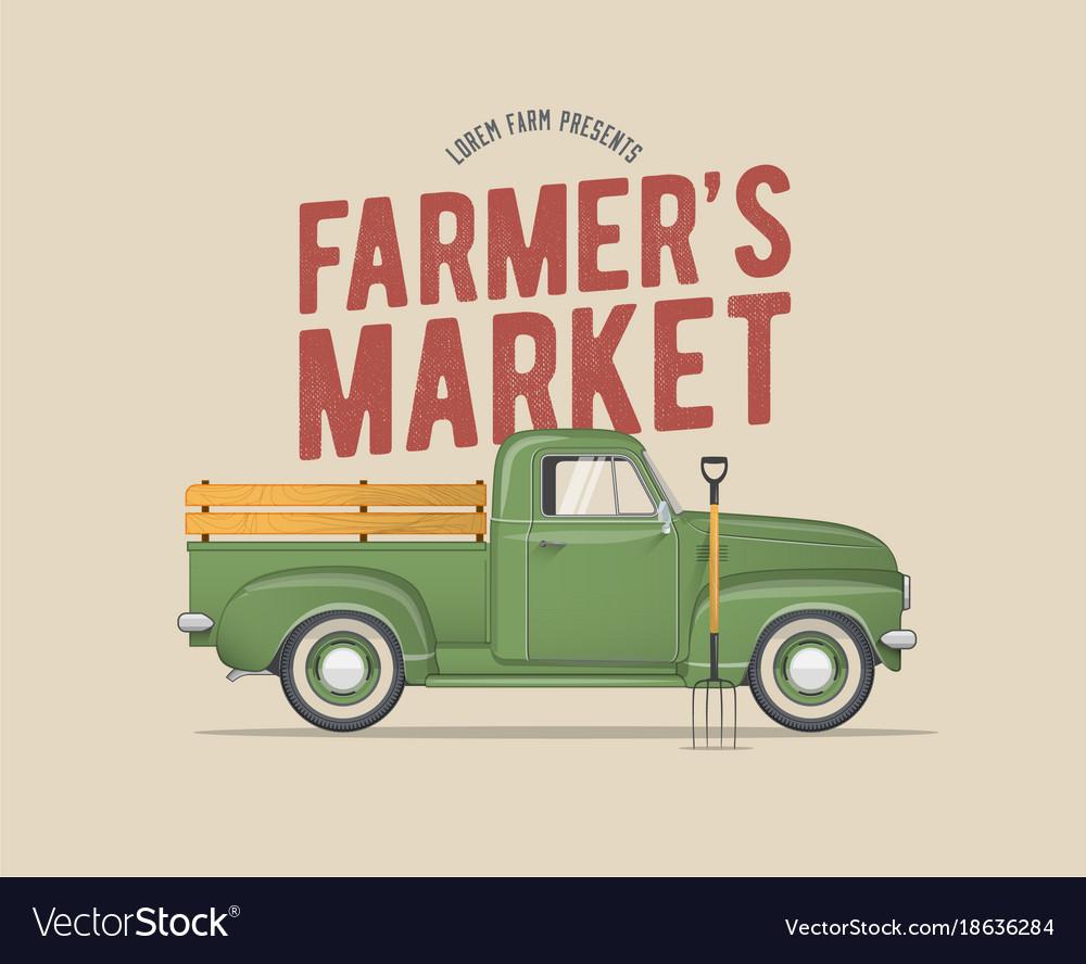 Farmers market themed