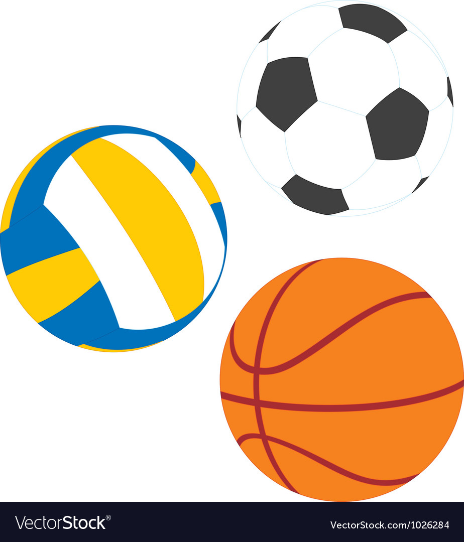 football basketball and volleyball royalty free vector image rh vectorstock com volleyball vector image volleyball vector clip art free