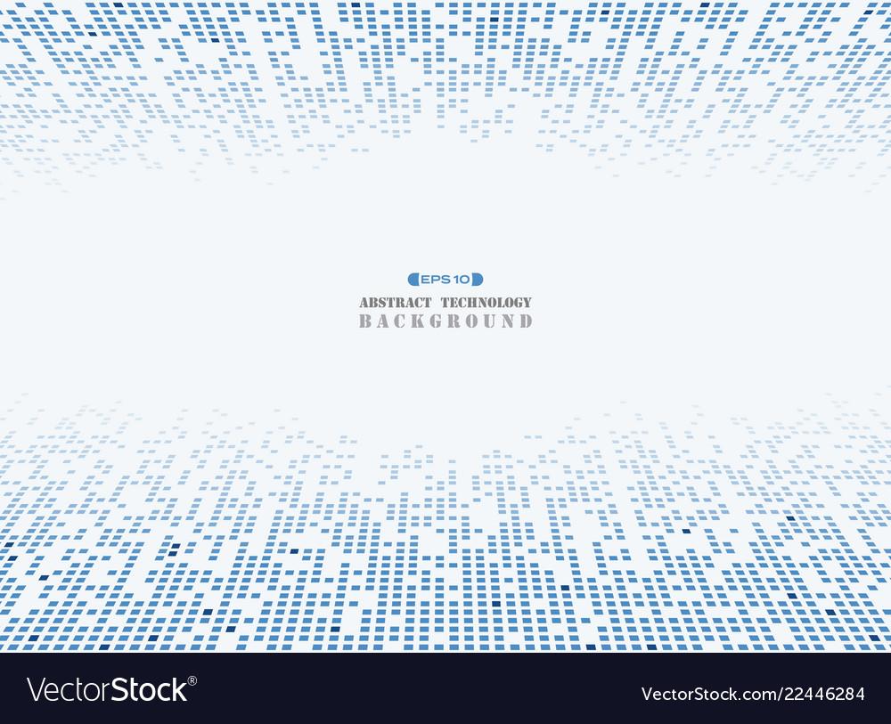 Futuristic blue square technology pattern