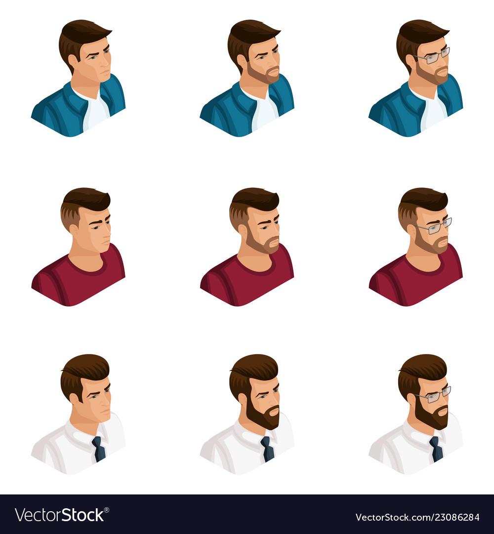 Quality isometry a set of 3d avatars