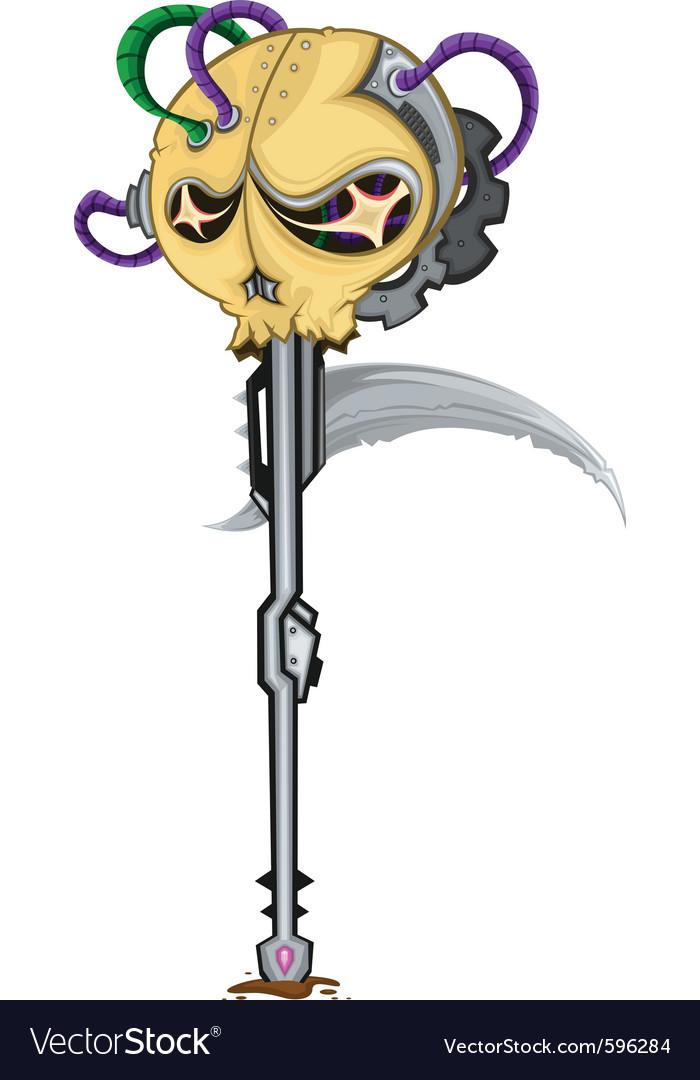 Sickle skull spear